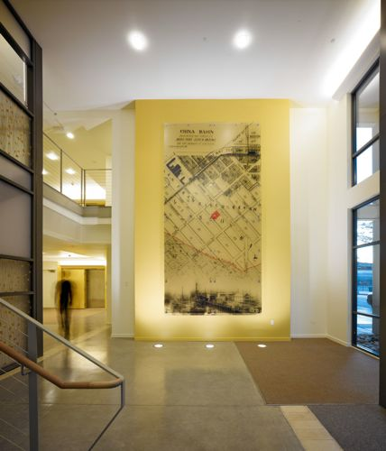 View of the lobby at 336 Berry Street