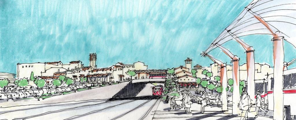 Bayshore Caltrain Perspective