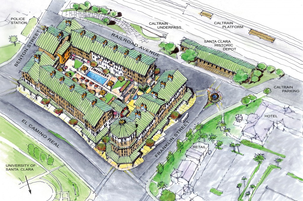 Historic Santa Clara Station & Proposed Transit Oriented Development